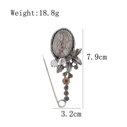 pins big Australia - New Vintage Big Resin Flower Pin Brooches for Women Elegant Scarf Buckle Coat Corsage Large Fashion Accessories Gift
