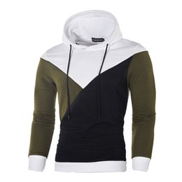 gym jacket UK - GYM Spring and Autumn Fashion European Men's Fashion Stitching Coloured Pullovers, Hats and Guards Men's Hoodies jacket