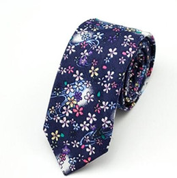 fashion ties for men UK - new top Floral ties Fashion Cotton Paisley Ties For Men Corbatas Slim Suits Vestidos Necktie Party Ties Vintage Printed Gravatas