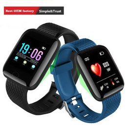sports activities for kids Canada - 116 Plus Smart watch Fitness Tracker Heart Rate Sport Bracelets Step Counter Activity Monitor Band Wristband for iphone Android