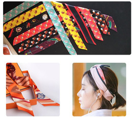 Discount personalized ribbons - wedding favor and gifts 1pc Bridal turban birthday gift for girlfriend digital printing scarf ribbon bridesmaid personal