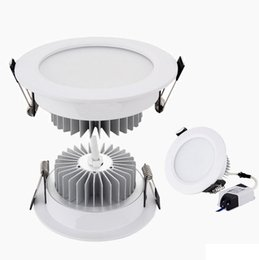 Aluminum recessed ceiling lights online shopping - White Shell Led Down Lights W Dimmable Led Downlights Recessed Ceiling Light V