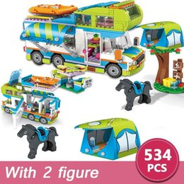 $enCountryForm.capitalKeyWord NZ - 534pcs City Camper Bus Car Girls Figures Building Blocks Compatible With Legoinglys Friend Bricks Educational Toy For Girls GiftMX190820