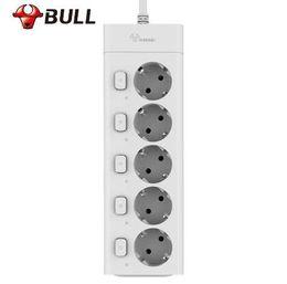 Power Socket Eu Australia - Bull Eu Plug Power Strip 3M G3050 10A 250V Electrical Socket EU Plug Extension Socket Outlet Surge Protector EU Power Strip