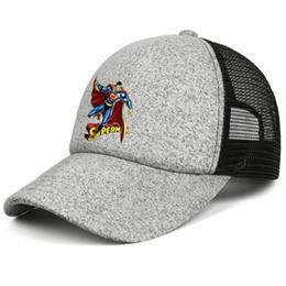 Cool Unisex Kids Hats Australia - Superman vs commission logo kids baseball caps Fit Teen baseball cap Stylish grey cap cool hats hats