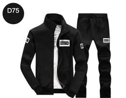 $enCountryForm.capitalKeyWord Australia - Casual Men Tracksuits Long Sleeve Zipper Jackets Jogger Loose Long Pants 2PC Set Sportswear Fashion port Suit Sport Sweatshirt for Men
