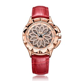 Elegant Fashion Watches UK - Luxury women watches Fashion Hollow Rotary  Diamond design women watches Water 0b64031d59cd