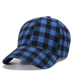 party caps NZ - DHL Plaid hat Baseball Cap Cotton plaid Snapback Caps Unisex Hip Hop Adjustable Cap Casual Outdoor Headwear Party Hats nt