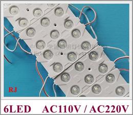 $enCountryForm.capitalKeyWord Canada - AC220V input injection LED module light waterproof LED back light backlight AC220V 3W SMD 2835 6led IP67 CE 87mm*42mm*8mm