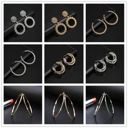 $enCountryForm.capitalKeyWord Australia - 2019 New Fashion Drop Earring For Women Round Circle Heavy Metal Statement Earrings Gift For Wedding Party Jewelry