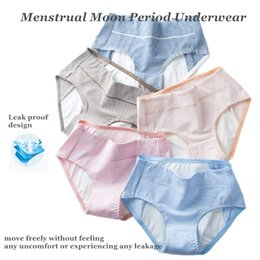 $enCountryForm.capitalKeyWord NZ - Menstrual Moon Period Underwear Briefs Pants Ladies Cotton Antibacterial Stretchy Comfortable Soft Breathable Leak Proof Sanitary Panties