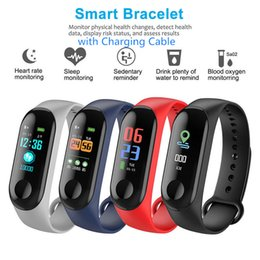 "oled smart watch 2019 - M3 Smart Wristband Waterproof Smart Watch 0.96"" OLED Touch Screen Heart Rate Tracker Instant Message Sleep Snap VS"