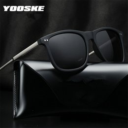 b5843020d0d YOOSKE Sunglasses Polarized Men High Quality Aluminum Magnesium Sun Glasses  Vintage Male Driving Travel Eyewear UV400 With Box