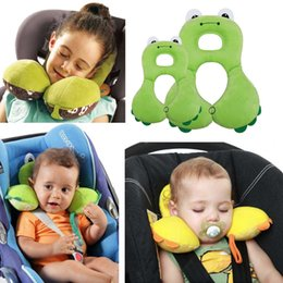 Animal Travel Pillows Australia - trollers Accessories Cartoon Animal U-shaped Baby Neck Car Pillow Neck Head Protection Cushion Comfortable Travel Pillow Stroller Access...