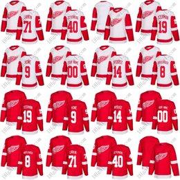 Custom 2018 Detroit Red Wings Hockey Jerseys 8 Justin Abdelkader 71 Dylan  Larkin 40 Henrik Zetterberg 9 Gordie Howe 19 Steve Yzerman 2ffabadc5