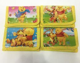 Pooh Cartoon Australia - Wholesale Lot Pooh Cartoon Wallet Trifold Zip Kids Cartoon Party Coin Purse gift P018