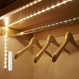 tape usb 2019 - Smart Turn ON OFF PIR Motion Sensor & USB Port LED Strip Light Flexiable adhesive lamp tape For Closet Stairs Kitchen Ca