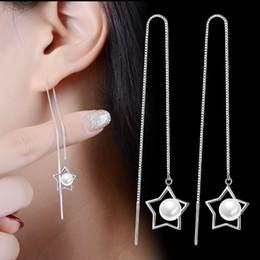 $enCountryForm.capitalKeyWord Australia - Fashion Cute Ear Wire Earrings Female Models Long Drop Crystal Imitation Pearl Jewelry Dangle Earrings