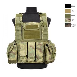 chest pouches Australia - Outdoor Sports Airsoft Gear Molle Pouch Bag Carrier Camouflage Combat Assault Chest Rig Tactical Molle Vest NO06-005
