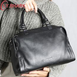 Genuine Brand Bags Australia - Genuine Leather Bag Women Shoulder Bag For Women 2019 Handbags Women Famous Brands Ladies Hand Bags Messenger Bag Black
