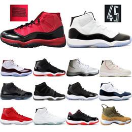 Gane como 96 11s Traderjoes, zapatos de baloncesto para mujer para hombre XI 11 Concord rojo negro Bred High Barons Calzado gris de diseño fresco zapatillas en venta