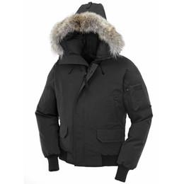 Vente en gros Veste d'hiver Fourrure Parka Homme Poutine Chaquetas Big-vêtement en fourrure à capuchon Fourrure Manteau Canada Down Jacket Coat Taille XS-XXL