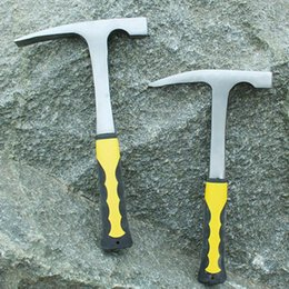 $enCountryForm.capitalKeyWord Australia - Flat Pointed Carbon Steel Geological Hammer Rock Reduction Outdoor Geology Exploration Teaching Multifuction Hand Tools