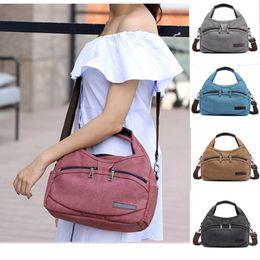 Ladies Briefcase Handbags NZ - 2019 Brand Canvas women Messenger Bags Casual Shoulder Bag Vintage zipper ladies handbags Small woman briefcase Crossbody Bags
