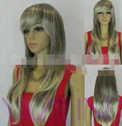 $enCountryForm.capitalKeyWord Australia - WIG LL<<< 003350 new vogue women hair wig long white grey mixed cosplay fancy dress wigs hot sell