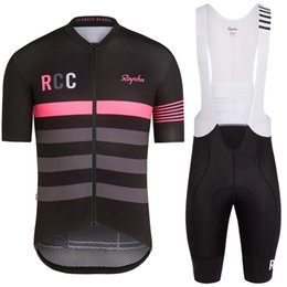 Wholesale 2019 Pro Team Rapha Cycling Jerseys Sets Cool Bike Suit Cycling Shirt Bib Shorts Mens Cycling Clothing factory direct clothing Ropa Ciclismo