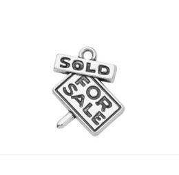 Antique Pendants For Sale UK - lemegeton Fishhook SOLD FOR SALE Lettering Charms Antique silver pendants Handmade Jewelry Making DIY Alloy Accessories