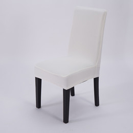 plain white chair covers UK - Wine Red Chair Cover PU Leather Light Purple Red Purple Champagne Rose Gold Black Green White Elastic Dark Purple