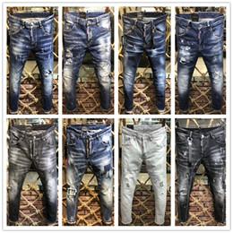 d1bf01221465d 2019 new D2 Classic Black Biker Jeans Men Runway Biker Straight Skinny Warm Denim  Trousers Cowboy Famous Brand Designer Washed Men s Pants