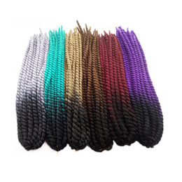 China Kanekalon Ombre Havana Mambo Twist Synthetic Braiding Hair 24inch 120g Ombre Twist Braids Hair Extensions New arrival supplier grey kanekalon braiding hair suppliers