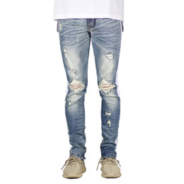 jeans pants style Australia - Mens Designer Solid Color Jeans Fashion Casual Spring New Long Zipper Pencil Pants Hip Hop Style Mens Clothing