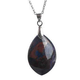 $enCountryForm.capitalKeyWord NZ - Natural Sugilite Jewelry Pendant Necklace Genuine Purple Crystal Gem Stone Bead for Men Women Energy Charm Pendants Necklace