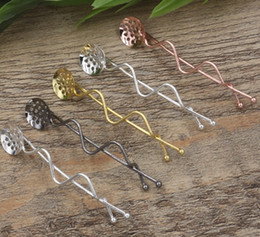 Fit Clips Australia - 20pcs 65MM fit 12MM Metal barrettes silver tone bobby pin girl's hairpin rose gold hairclip blank hair clip base hairwear women diy jewelry