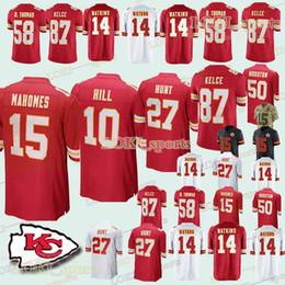 4864f3013a8 Kansas City 33 Chief jerseys 15 Patrick Mahomes 10 Tyreek Hill 87 Travis  Kelce 14 Sammy Watkins 50 Justin Houston jersey 2019