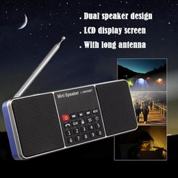 L tf speakers online shopping - FM Radio Speaker L Support TF Card U Disk MP3 Music Player Loudspeaker