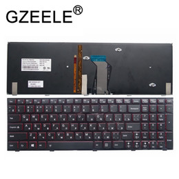 Wholesale Gzeele New Russian Keyboard For Lenovo Y500 Y500n Y500nt Y510 Y510p Y590 Y590n Laptop Russian Keyboard Backlit Backlight Black T190627
