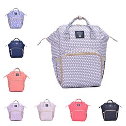 Nurse Bags Wholesale NZ - new Diaper Bags Mommy Backpack Nappies Backpack Fashion Mother Maternity Backpacks Outdoor Desinger Nursing Travel Bags T2D5034