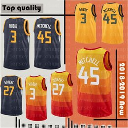 Donovan 45 Mitchell Ricky 3 Rubio Jersey Men s John 12 Stockton Karl 32  Malone Joe 2 Ingles Rudy 27 Gobert Basketball Jerseys bfb136981