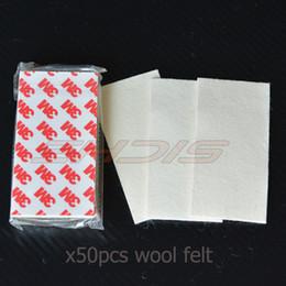$enCountryForm.capitalKeyWord NZ - wholesale 50pcs Wool Felt For 4 Inch Card Squeegee Car Wrap Vinyl Film Squeegee Ice Scraper Felt Car Sticker Window Tinting Tool