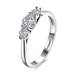 Jewelry Mosaic Sets Australia - Solitaire Ring I Only Love You Rhodium Plated Circle Pattern Prong Setting Mosaic Zircon Flat Ring Romantic Wedding Jewelry Gift POTALA835-C
