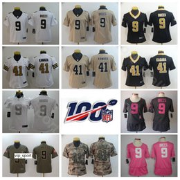 Kids draws online shopping - Youth Saints Women Jersey New Orleans Football Kids Lady Drew Brees Alvin Kamara Color Black White Camo With th Patch