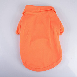 T Shirts Materials NZ - New Arrival Candy Color Fashion Dog Polo Shirts Spring Summer Colorful Pet Clothes Poromeric Material For Pets Easy Washing Factory Price