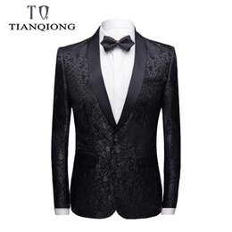 Wholesale mens floral blazers resale online - 2019 Brand Men Casual Blazers Men Fashion Mens Floral Blazer Slim Fit Mens Stage Wear High Quality Prom Party Blazers