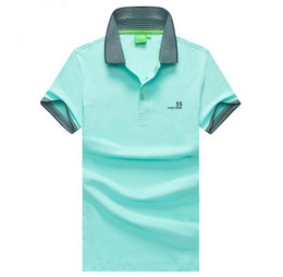 Polo shirt custom online shopping - Bosses Men s Designer Polo ShirtPolo Hugo Limited Casual British Business Brand Letter Solid Color Private Custom Fashion T Shirt ss