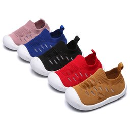 First walkers soFt sole prewalker shoes online shopping - 2019 Baby Shoes Knitted Toddler First Walkers Breathable Boys Girls Sneakers Soft Sole Prewalker for T Baby Designs M031