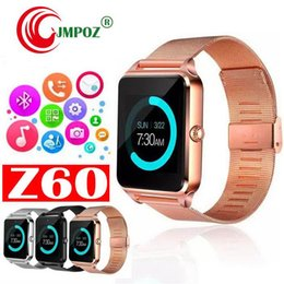piece camera Australia - single-piece Smart Watch Z60 GT08S Clock With FM Sim Card Slot Push Message Bluetooth Connectivity Android Phone Smartwatch Alloy Smartwatch